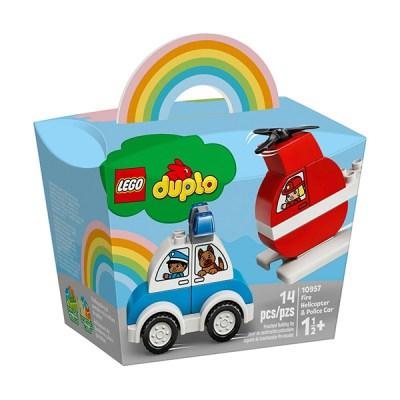 Lego Duplo: Fire Helicopter Police Car (εως 36 Δόσεις)