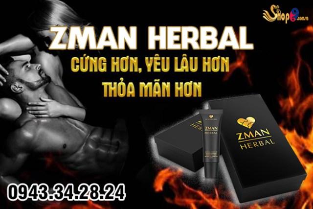 công dụng Zman Herbal