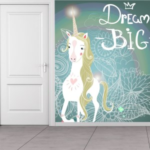 unicorn wall mural decor dream nursery