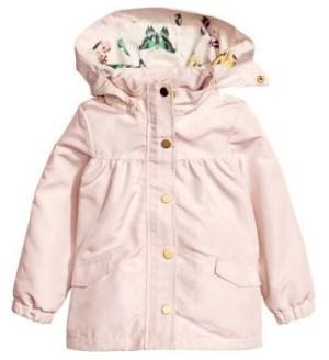H&M roze jas met vlindervoering