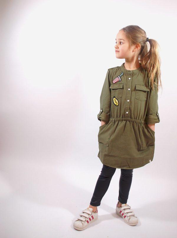 Budget army denim jurk