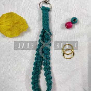 Macrame Handicraft MACRAME Wristlet Keychain [tag]
