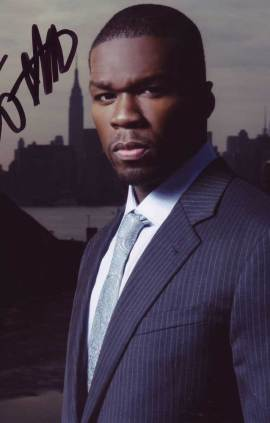 Curtis 50 Cent Jackson in-person autographed photo