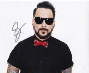 A. J. McLean in-person autographed photo Backstreet Boys