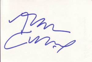 Alan Cumming Autographed Index Card