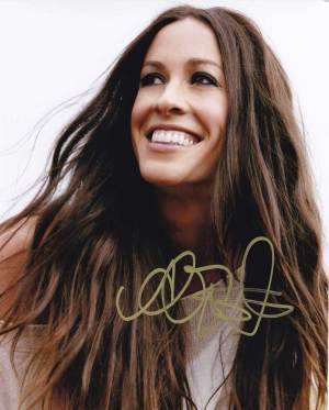 Alanis Morissette in-person autographed photo