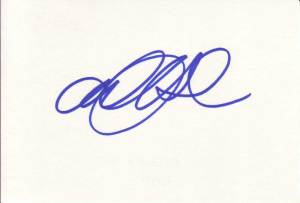 Alexandra Holden Autographed Index Card