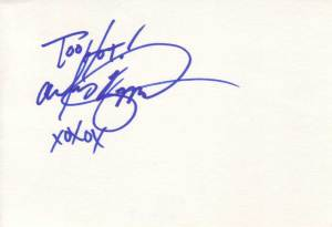 Alley Baggett Autographed Index Card