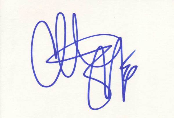 Christian Slater Autographed Index Card
