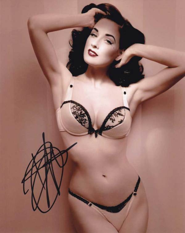 Dita Von Teese in-person autographed photo