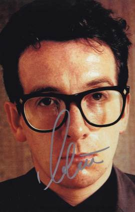 Elvis Costello in-person autographed photo