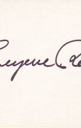 Eugene Roche Autographed Index Card
