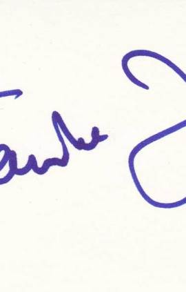 Famke Janssen autographed 3 x 5 index card
