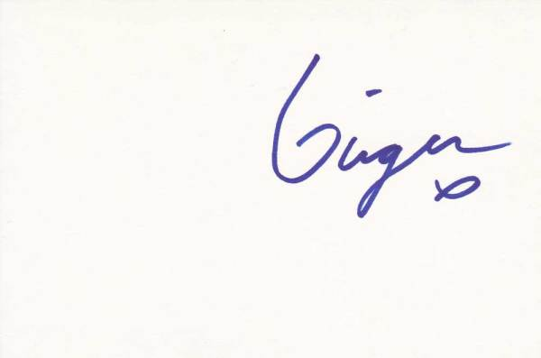 Ginger Fish Autographed Index Card