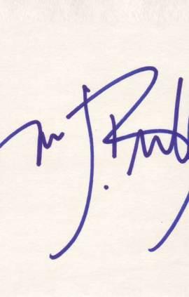 Jim J. Bullock autographed index card