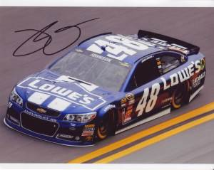 Jimmie Johnson in-person autographed photo