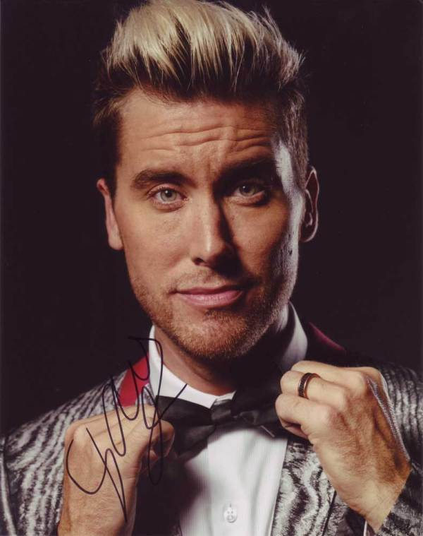 Lance Bass In-person Autographed Photo
