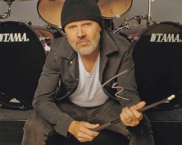 Lars Ulrich in-person autographed photo Metallica