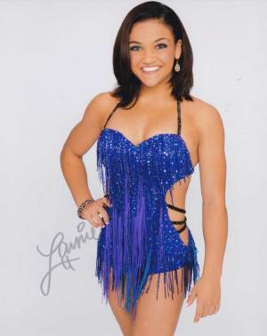 Laurie Hernandez in-person autographed photo Team USA