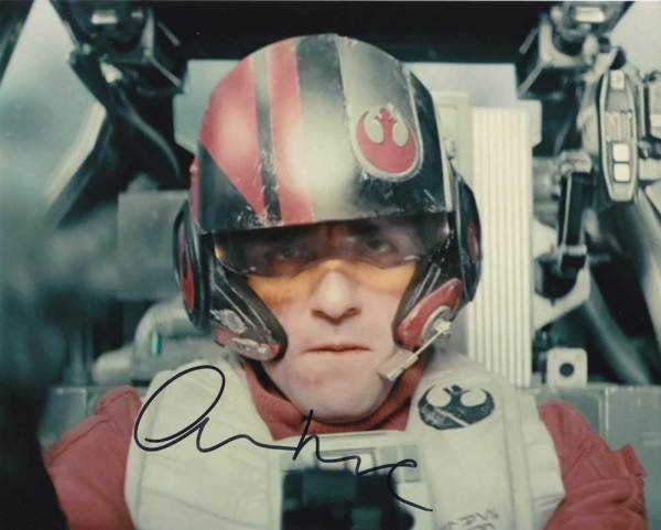 Oscar Isaac in-person autographed photo