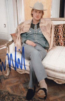 Owen Wilson in-person autographed photo