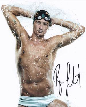 Ryan Lochte in-person autographed photo Team USA