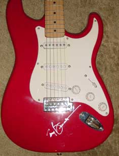 Tony Bennett in-person autographed guitar