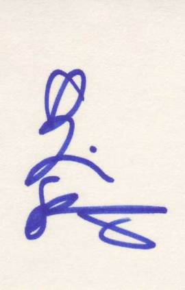 Tori Spelling autographed 3 x 5 index card