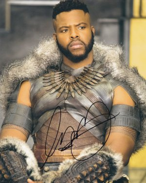 Winston Duke in-person autographed photo Black Panther