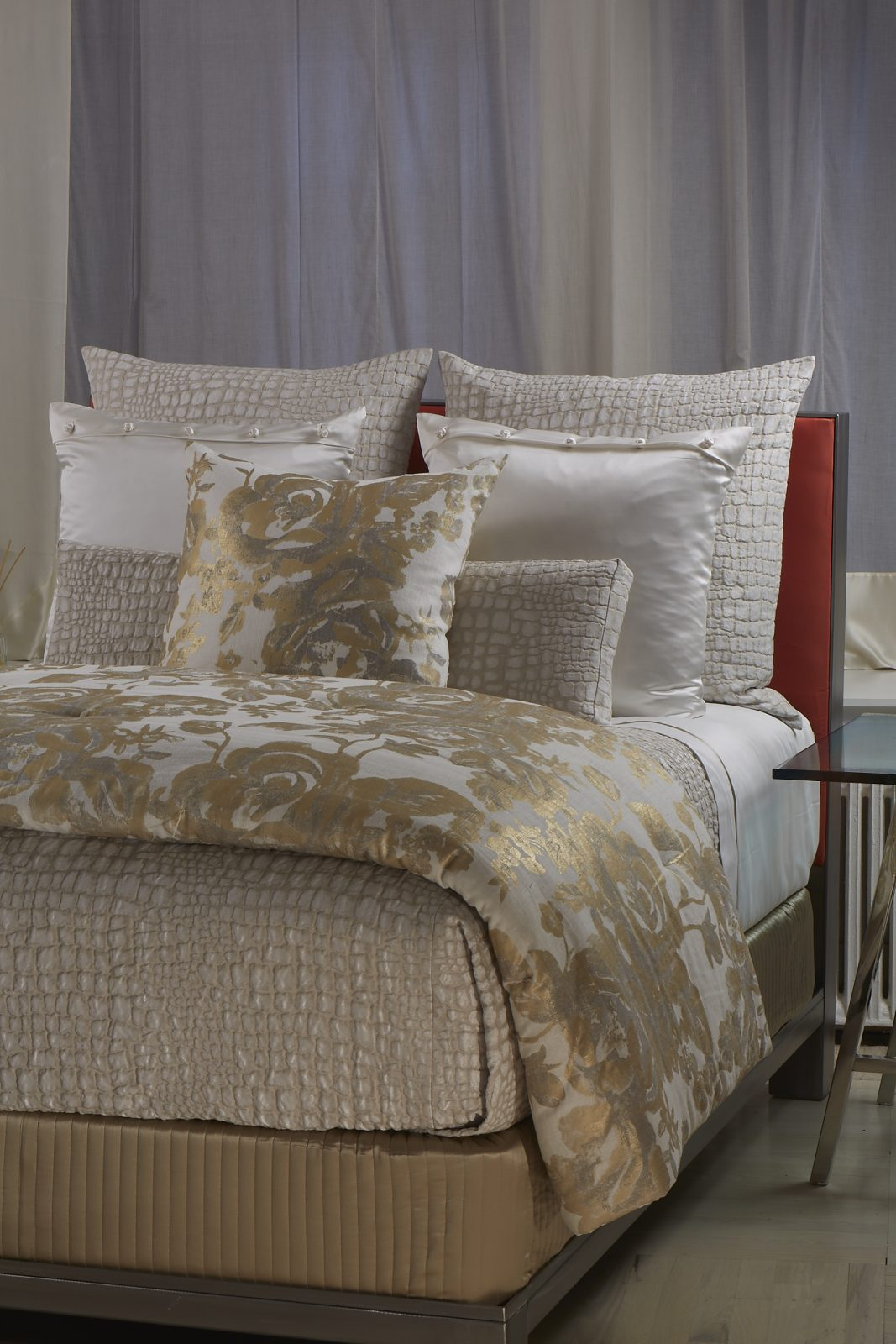 Croc Coverlet and Sham By Ann Gish  Bedside Manor Ltd