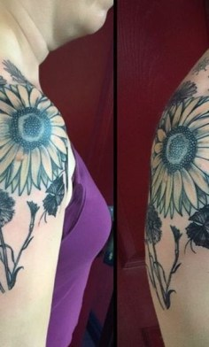 Sunflower-Tattoo Best Tattoo Designs for Women 2020 – Cute Tattoo Ideas