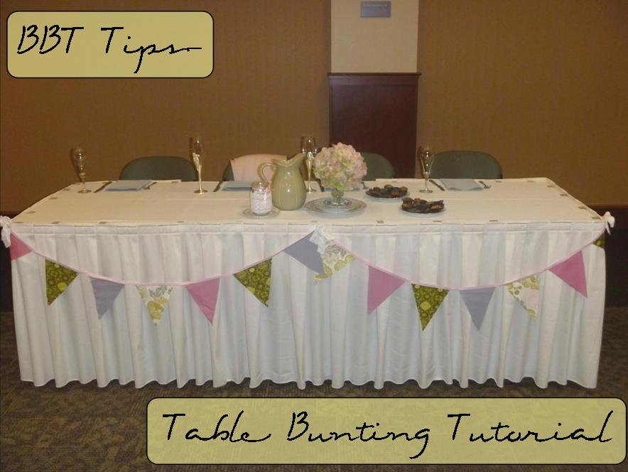 The Wedding March Table Bunting Tutorial no sew  Best Bib and Tucker