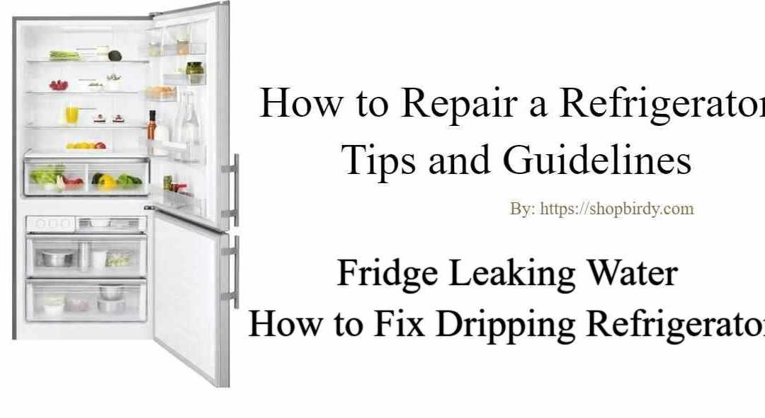 The fridge leaking water | How to Fix Dripping Refrigerator
