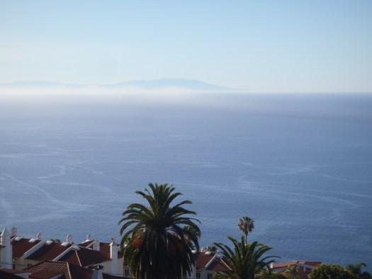 Silueta de la isla de La Palma vista desde Tenerife