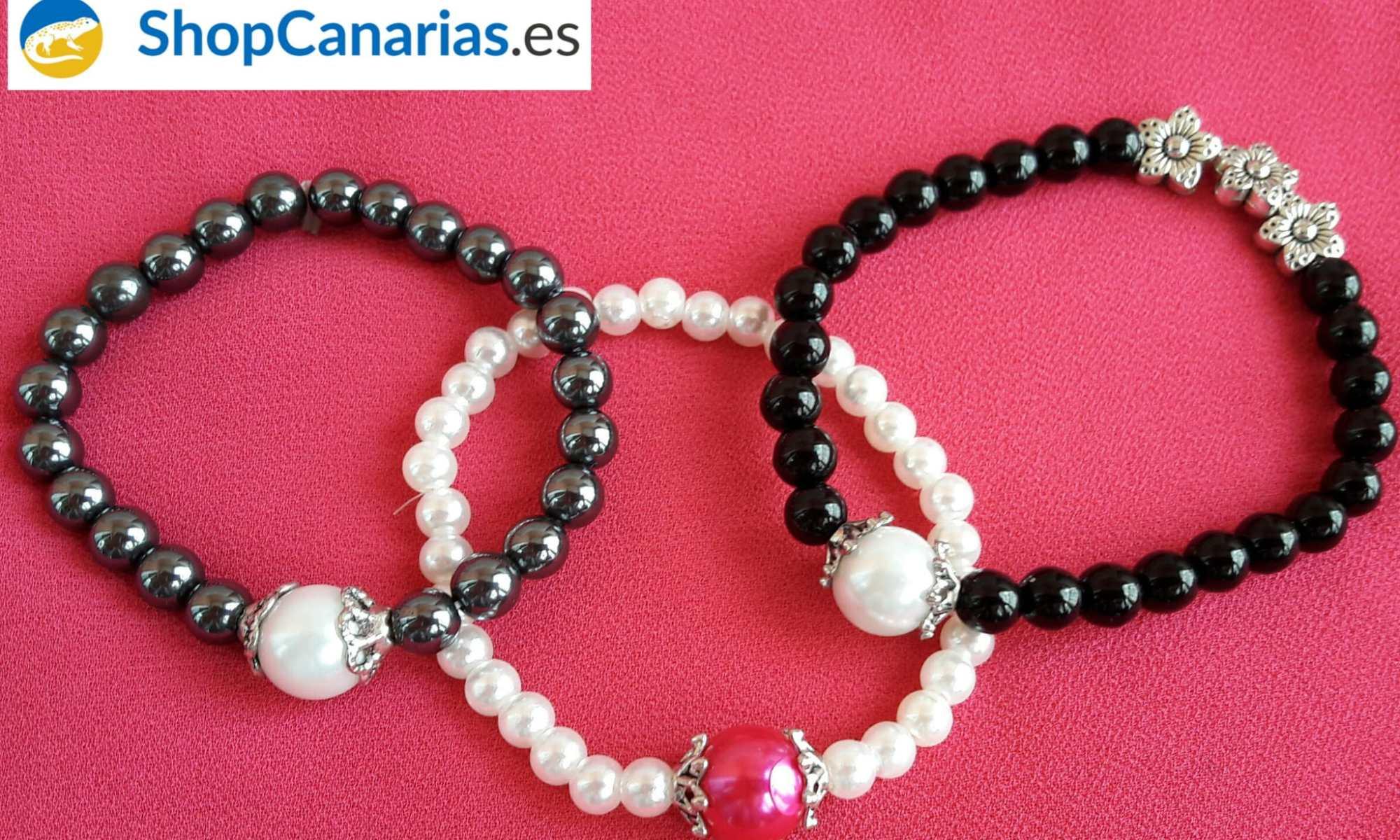 Pulsera Elástica de la marca Shopcanarias.es con Perla