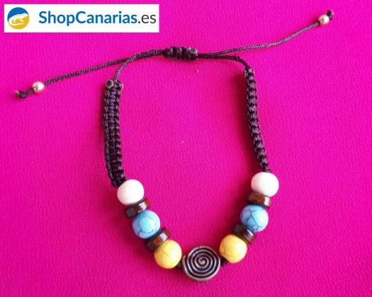 Makramee Armband Shopcanarias.es mit Guanche Symbol
