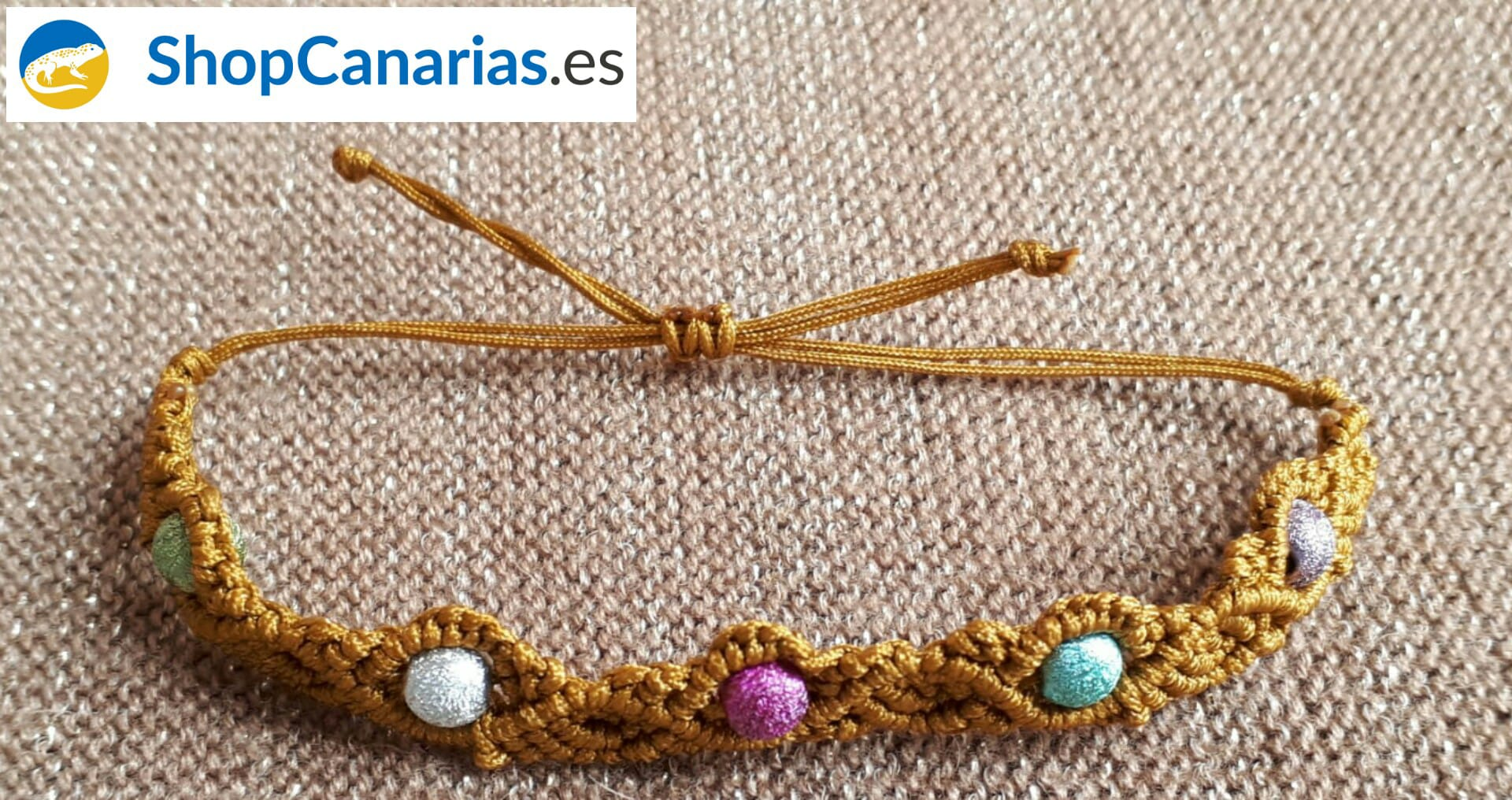 Pulsera Exclusiva Macramé ShopCanarias.es Cinco Colores