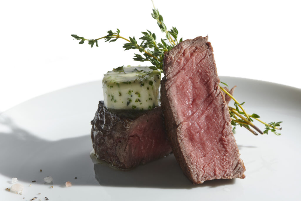 Filet Mignon with Garlic Herb Butter