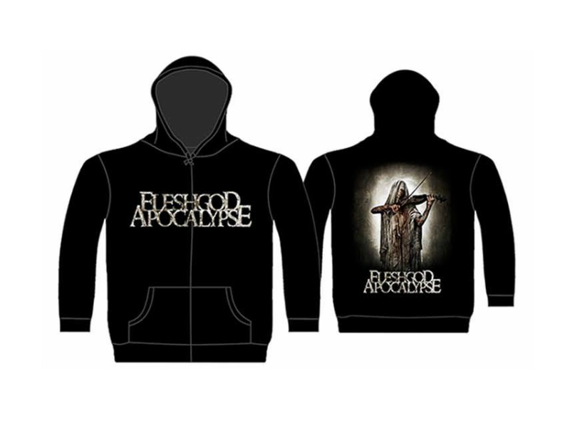 Fleshgod Apocalypse Bloody Violinist Zip Hoodie Rockzone