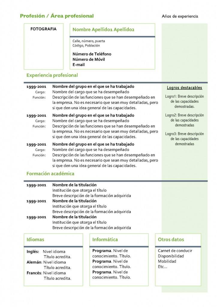 Currículum Vitae Modelo 4