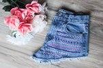 Daze & Amaze Denim High Waisted Embroidered Shorts