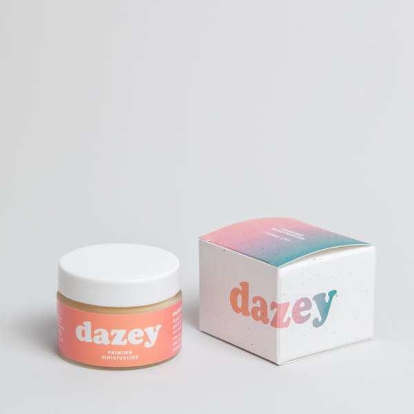 dazey priming moisturizer with compostable packaging