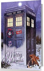 Doctor Who Merry Whomas Christmas Card
