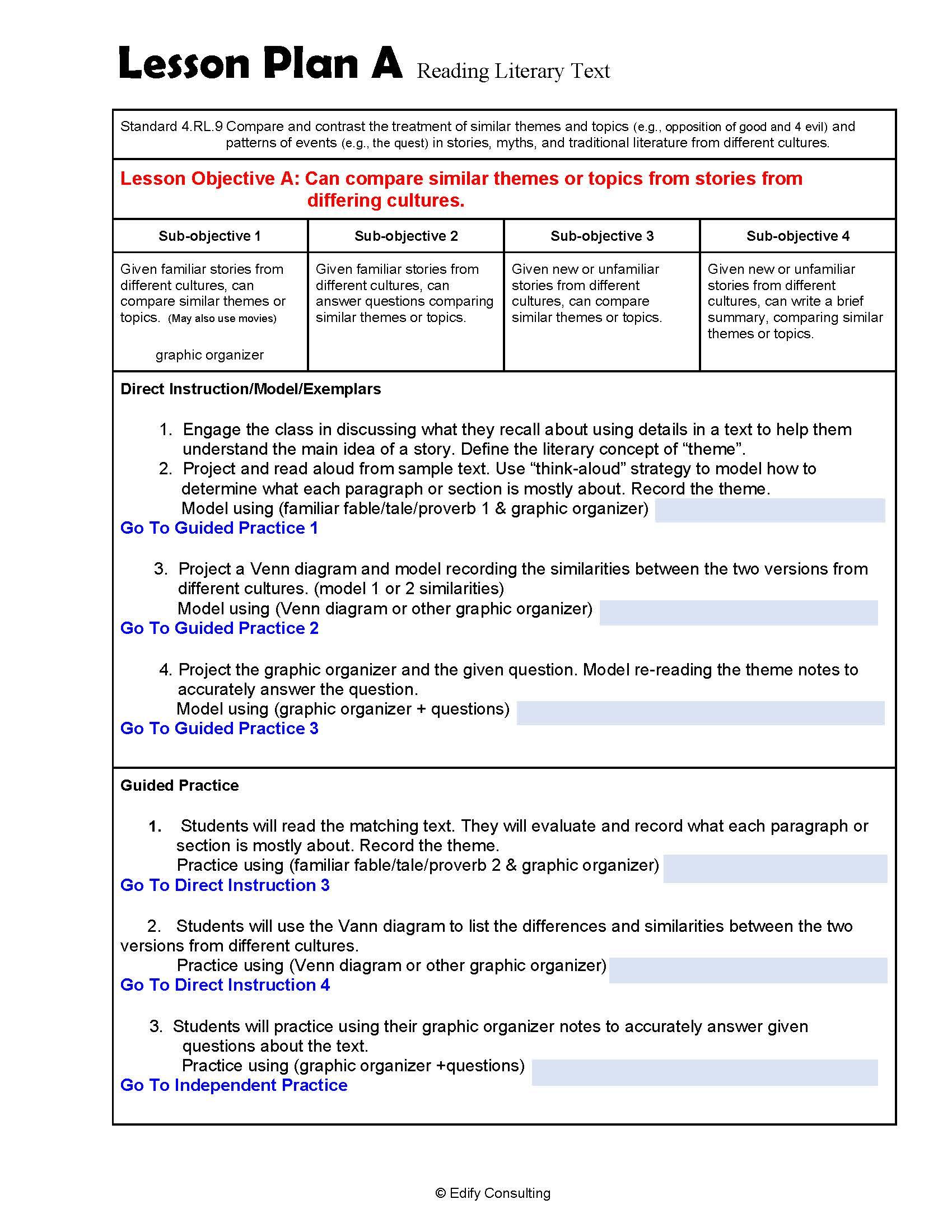 hight resolution of 4.RL.7 Lesson Plans 4th Grade ELA (2 Lesson Plans) – ShopDollar.com: Online  Shopping for Teachers Saving on Classroom Supplies