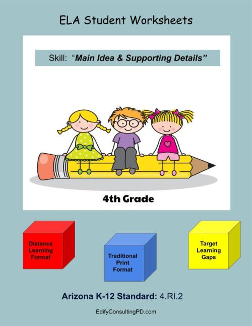 small resolution of Arizona Worksheets 4.RI.2 – Main Idea and Supporting Details –  ShopDollar.com: Online Shopping for Teachers Saving on Classroom Supplies