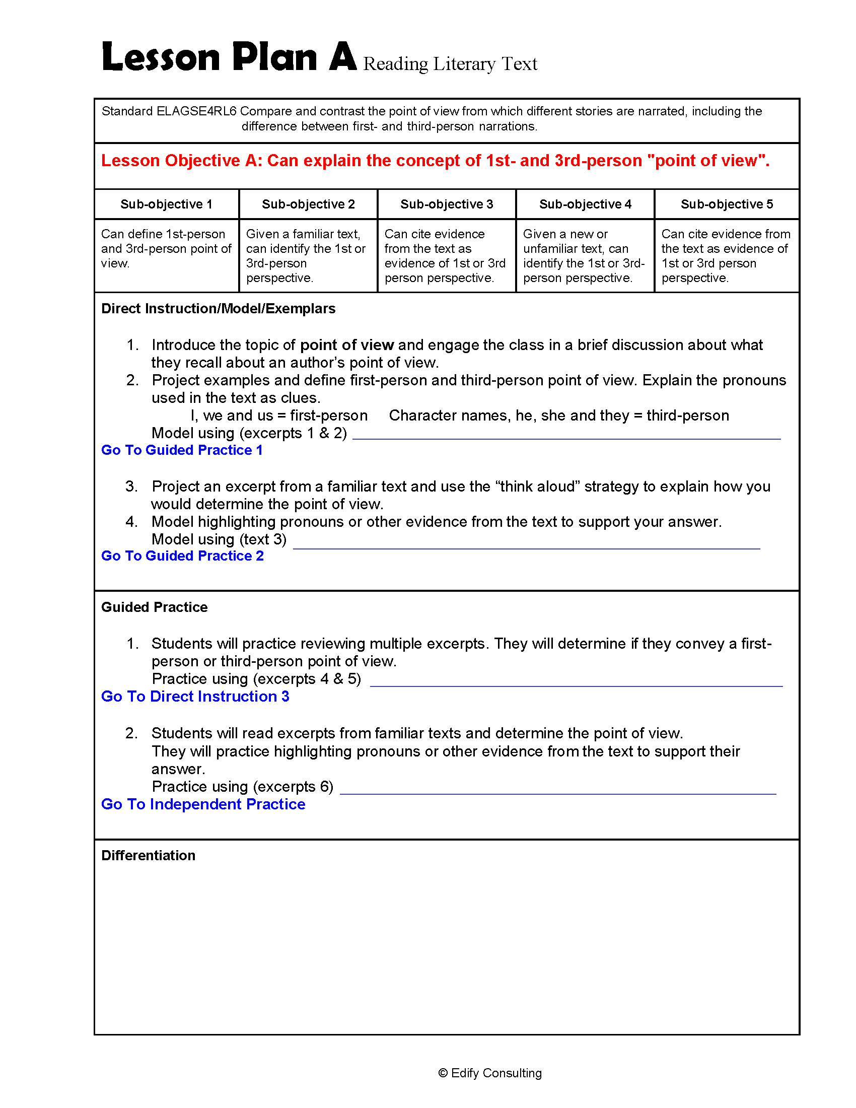 hight resolution of Georgia Lesson Plans ELAGSE4RL6 – ELA 4th Grade (2 Lesson Plans) –  ShopDollar.com: Online Shopping for Teachers Saving on Classroom Supplies