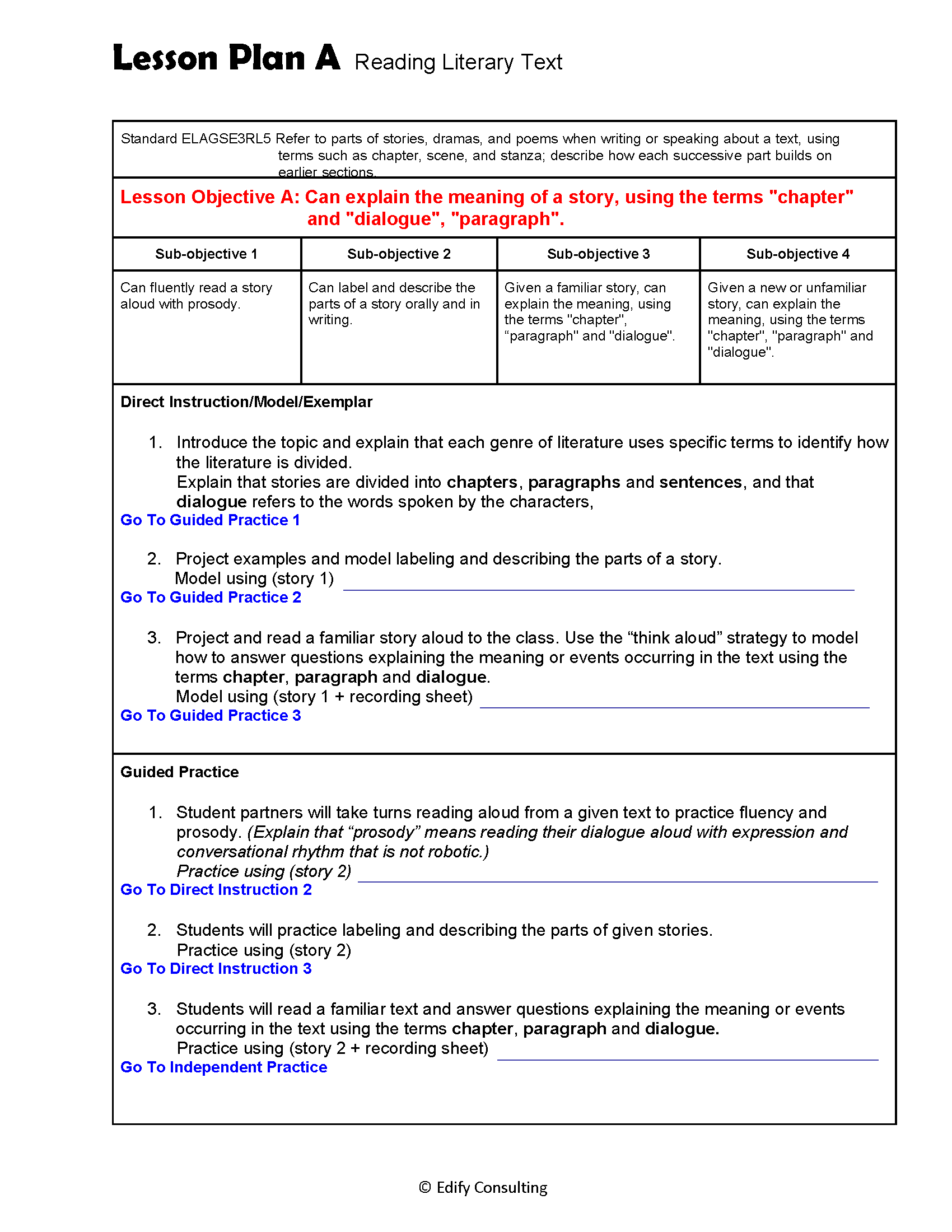 hight resolution of Georgia Lesson Plans ELAGSE3RL5 – ELA 3rd Grade (5 Lesson Plans) –  ShopDollar.com: Online Shopping for Teachers Saving on Classroom Supplies