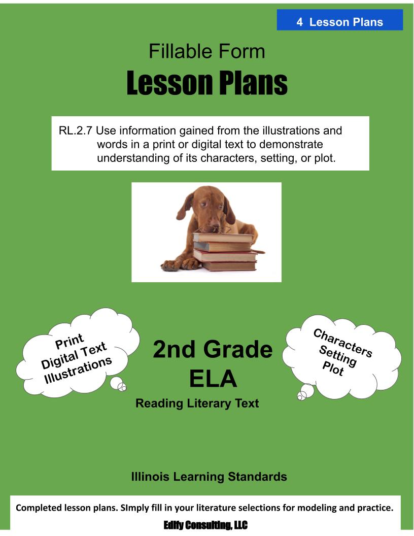 hight resolution of Illinois Lesson Plans RL.2.7 – ELA 2nd Grade (4 Lesson Plans) –  ShopDollar.com: Online Shopping for Teachers Saving on Classroom Supplies