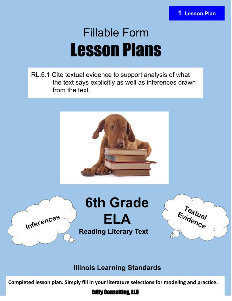 medium resolution of Illinois Lesson Plans RL.6.1 – ELA 6th Grade (1 Lesson Plan) –  ShopDollar.com: Online Shopping for Teachers Saving on Classroom Supplies
