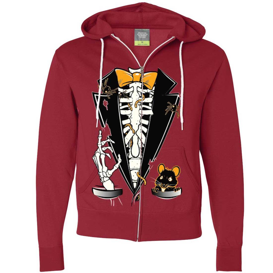 Skeleton Zip Up Hoodie Mask